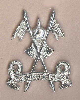 73rd LANCERS nickel plated cap badge