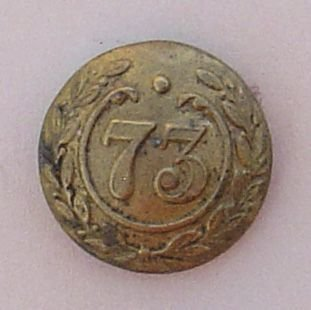 73rd NATIVE INFANTRY ORS 22mm brass button
