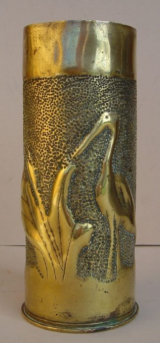 75mm French shell case Heron & Plant on punched
