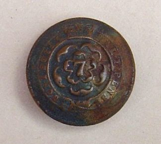 7th REGIMENT of FOOT 27mm ORs BRASS TUNIC BUTTON