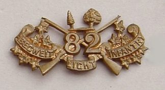 82nd ABEGWEIT LIGHT INFANTRY collar dog g/m