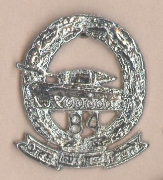 84th CAVALRY nickel plated cap badge