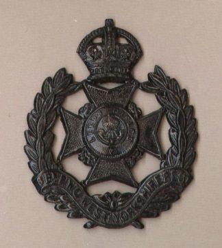 8th BATTALION, WEST YORKSHIRE REGIMENT (LEEDS RIFLES) KC  or's Cap badge Blacked-Brass.