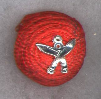 8th GURKHA RIFLES Officer's 'Cherry' cap badge - India post 1947