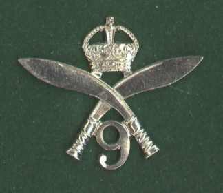 9th GURKHA RIFLES - w/m die-struck KC or's c/b