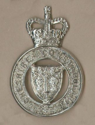 CHESHIRE CONSTABULARY QC Chrome c/b 'shield'