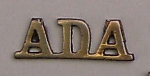 ADA cast brass shoulder title 'Air Defence Artille