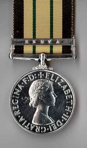 AFRICA GENERAL SERVICE 'KENYA' f/s medal