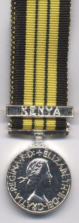 AFRICA GENERAL SERVICE MEDAL clasp 'KENYA'