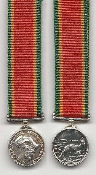 AFRICA SERVICE MEDAL 1939-45 miniature medal
