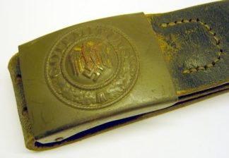 ARMY BELT BUCKLE on leather Belt