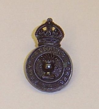 ARMY CATERING CORPS KC WWII plastic economy cap badge