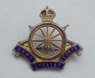 ARMY CYCLIST CORPS KC gilt and enamel
