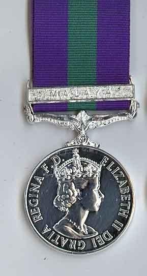 Army General Service, 1918-1962 MALAYA ERII
