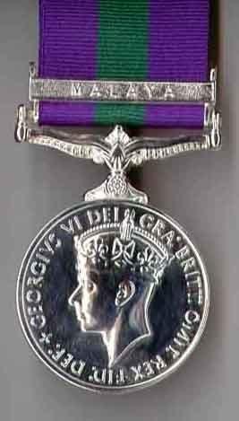 Army General Service 1918-1962 MALAYA GRVI