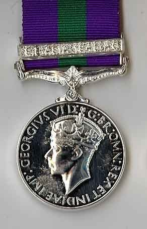Army General Service 1918-1962 S.E. ASIA 1945-46