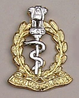 ARMY MEDICAL CORPS cast brass nickel plate bi/m