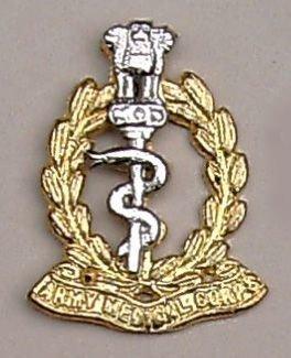 ARMY MEDICAL CORPS cast brass nickel plate bi/m