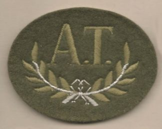 'A.T' ANTI  TANK embroidered wool worsted for 'Guards' service dress