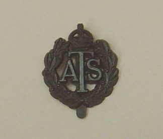 A.T.S. plastic cap badge