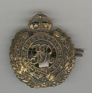 AUSTRALIAN ENGINEERS - KC GRV OR/'S cap badge
