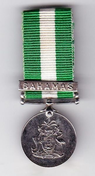 BAHAMAS DEFENCE FORCE 1979 min. with Clasp BAHAMAS