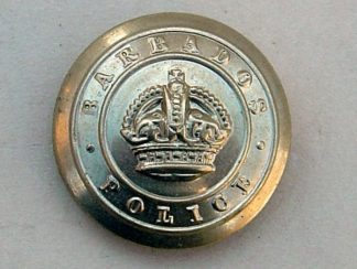 BARBADOS POLICE KC 24mm OR'S NICKEL BUTTON