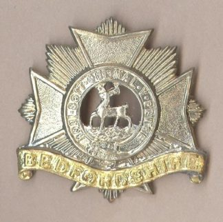 BEDFORDSHIRE REGIMENT bi/m 1898-1919