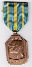 BELGIUM AFRICAN WAR MEDAL 1940-1945 - Full size