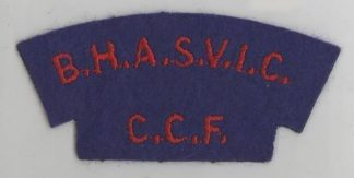 B.H.A.S.V.I.C - C.C.F. cloth s/t  red on blue