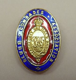 BLUES COMRADES ASSOCIATION gilt red blue enamel