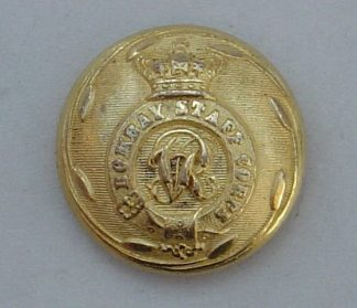BOMBAY STAFF CORPS QVC 25mm OFFICERS GILT BUTTON
