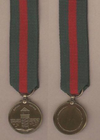 BORDER SERVICE MEDAL miniature medal, bronzed