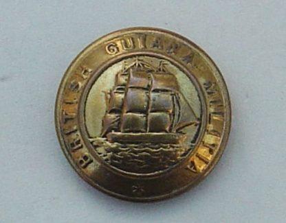 BRITISH GUIANA MILITIA 25mm BRASS OR'S BUTTON