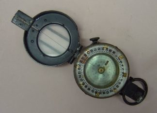 BRITISH ISSUE MARCHING COMPASS MK.III 1943