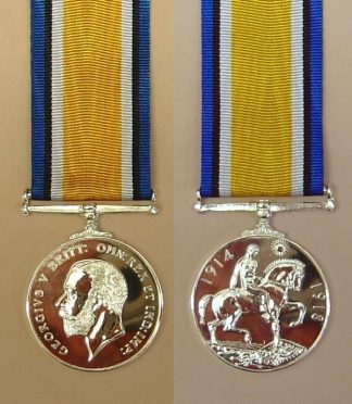 BRITISH WAR MEDAL 1914-1918 -Navy, Army & Airforce