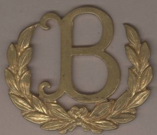 'B' TRADESMAN Badge in gilding metal