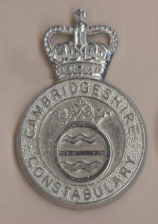 CAMBRIDGESHIRE CONSTABULARY QC Chrome c/b shield