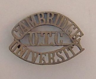 CAMBRIDGE UNIVERSITY O.T.C. brass shoulder title