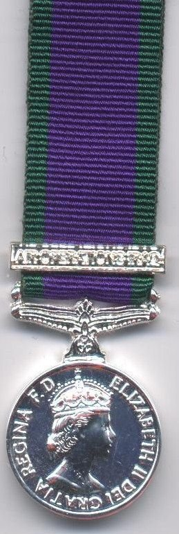 CAMPAIGN SERVICE MEDAL 1962 'AIR OPERATIONS IRAQ'