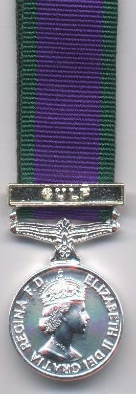 CAMPAIGN SERVICE MEDAL1962 clasp 'GULF'