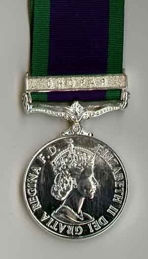 CAMPAIGN SERVICE MEDAL 1962 DHOFAR