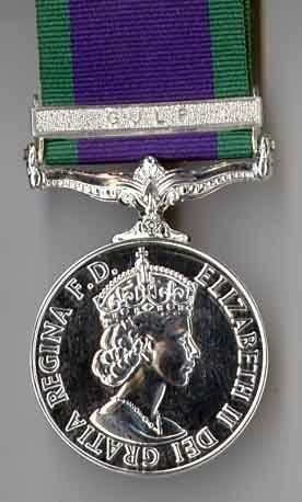 CAMPAIGN SERVICE MEDAL 1962 GULF