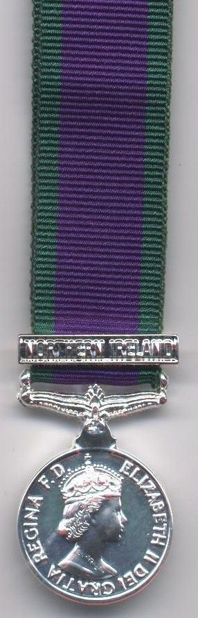 CAMPAIGN SERVICE MEDAL 1962 'NORTHERN IRELAND'