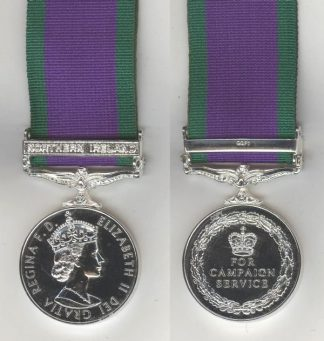 CAMPAIGN SERVICE MEDAL 1962 NORTHERN IRELAND