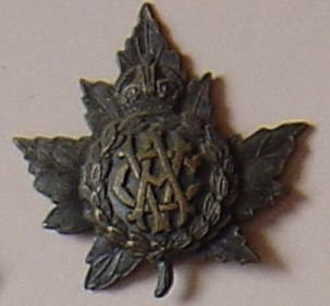 CANADIAN ARMY VETERINARY CORPS C.E.F. bronzd or/s