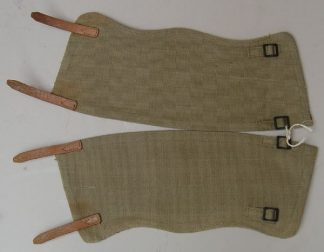 CANVAS GAITERS pair, steel buckles