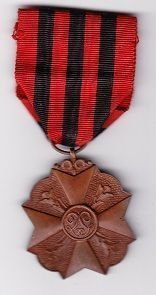 BELGIUM CIVIL DECORATION FOR LONG SERVICE MEDAL bronze