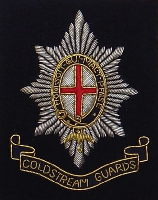 COLDSTREAM GUARDS, bullion wire blazer badge
