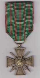 CROIX DE GUERRE WWI - 1914-18 Reverse